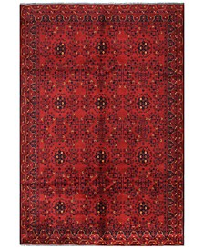"Fine Beshir 608665 Red 6'3"" x 9'3"" Area Rug"