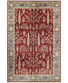 """Mansehra 600489 Red 6'6"""" x 10' Area Rug"""