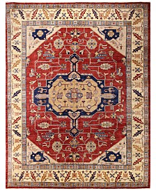 "BB Rugs Fine Afghan Kazak 595349 Red 7'6"" x 9'9"" Area Rug"