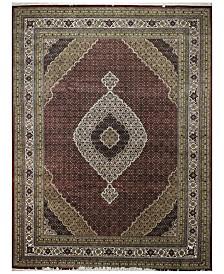 "BB Rugs Fine Indo Tabriz 628667 Red/Ivory 9'1"" x 12' Area Rug"