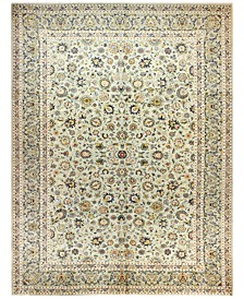 "Kashan 615180 Light Green 9'11"" x 13'3"" Area Rug"