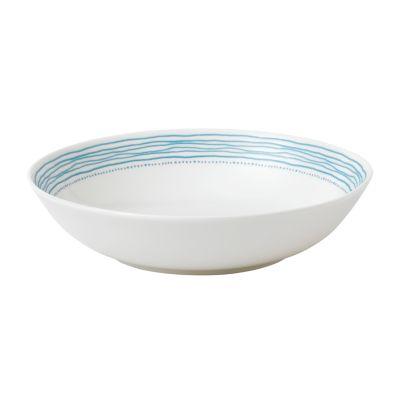 Crafted by Royal Doulton Polar Blue Dots Pasta Bowl