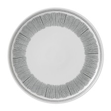 ED Ellen DeGeneres Crafted by Royal Doulton Charcoal Grey Lines Dinner Plate