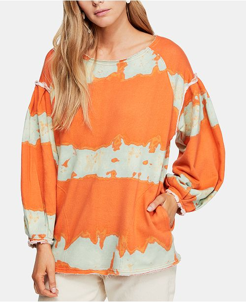 Free People Feels Right Printed Pullover Top