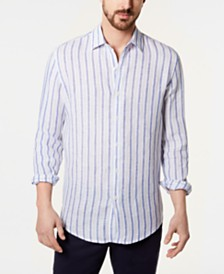 Tasso Elba Men's Tileno Stripe Linen Shirt, Created for Macy's