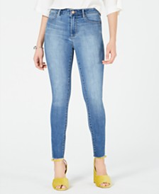 Articles of Society Heather Frayed-Hem Skinny Jeans