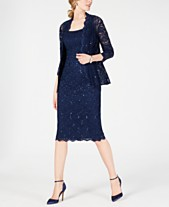 7f2f8eedf6a Alex Evenings Sequined Lace Sheath Dress and Jacket. Quickview. 2 colors