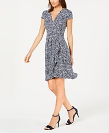 Jessica Howard Petite Ditsy Floral Wrap Dress