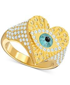 Swarovski Gold-Tone Lucky Goddess Heart Ring