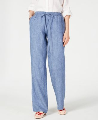 Image of Charter Club Linen Drawstring-Waist Pants, Created for Macy's