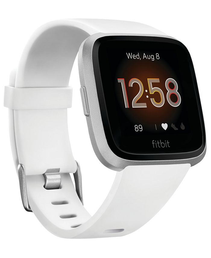 Fitbit - Unisex Versa Lite White Silicone Strap Smart Watch 39mm