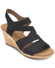 Rockport Women's Briah Asymmetrical Wedge Sandals