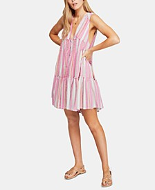 Do It Again Cotton Striped Mini Dress