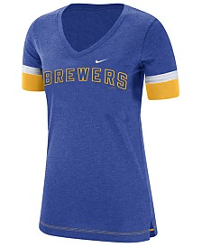 Nike Women's Milwaukee Brewers Tri-Blend Fan T-Shirt