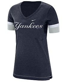 Nike Women's New York Yankees Tri-Blend Fan T-Shirt