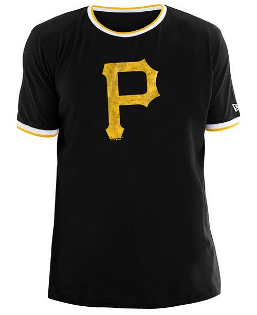 New Era Men's Pittsburgh Pirates Ringer Crew Top