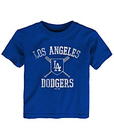 Baby Los Angeles Dodgers Crossed Bats T-Shirt