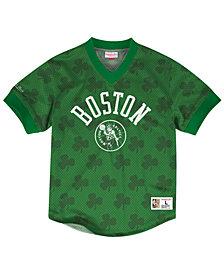 Mitchell & Ness Men's Boston Celtics Kicking It Wordmark Mesh T-Shirt