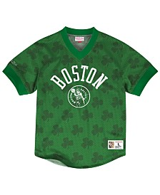 Mitchell & Ness Men's Boston Celtics Kicking It Wordmark Mesh T-Shirt