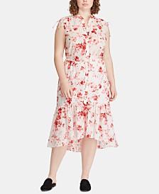 Lauren Ralph Lauren Plus Size Sleeveless Cotton Dress