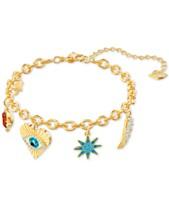 846a87ffe3842a Swarovski Gold-Tone Lucky Goddess Charm Bracelet