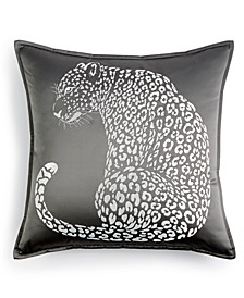 "CLOSEOUT! Leopard 18"" x 18"" Decorative Pillow"