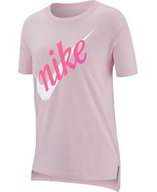 Nike Big Girls Swoosh Logo Cotton T-Shirt