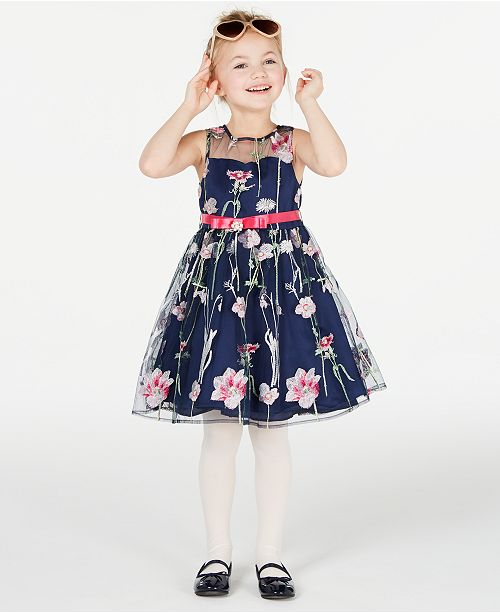 Rare Editions Matching Sister Dress Toddler, Little & Big Girls Embroidered Dress