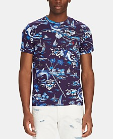 Polo Ralph Lauren Men's Big & Tall Classic-Fit Marlin-Print T-Shirt