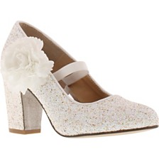 Badgley Mischka Little & Big Girls Kylie Flower Block Heel
