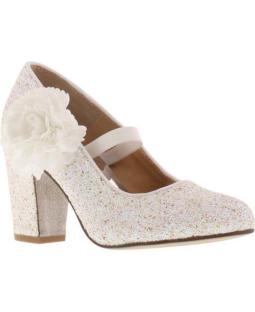 Badgley Mischka Little & Big Girls Kylie Flower Block Heel