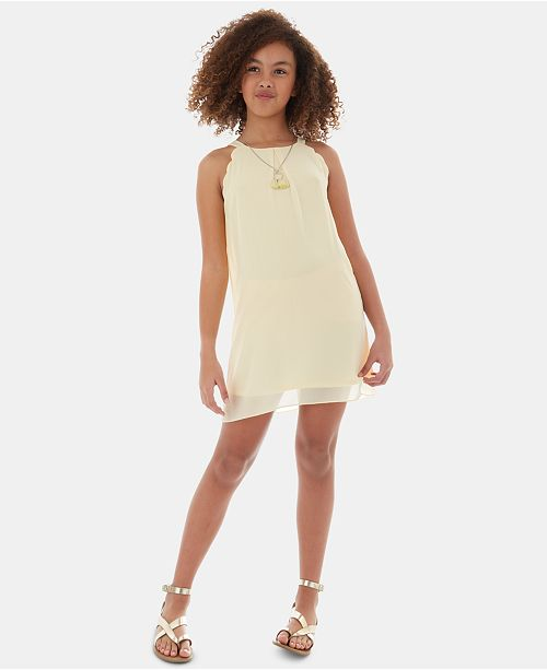BCX Big Girls 2-Pc. Scalloped Dress & Necklace Set