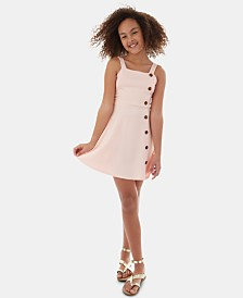BCX Big Girls Button-Trim Dress