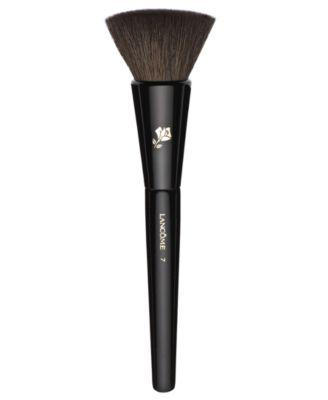 Natural and Flat-Bristled Blush Brush