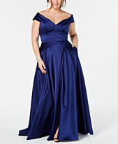 c443310d954 XSCAPE Plus Size Off-The-Shoulder Gown. Quickview