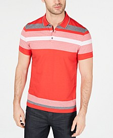 Men's Engineered Stripe Polo, Created for Macy's