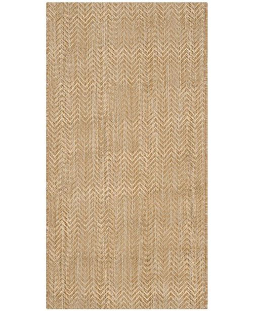 "Safavieh Courtyard Natural and Cream 2' x 3'7"" Sisal Weave Area Rug"