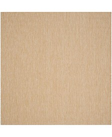 """Safavieh Courtyard Natural and Cream 6'7"""" x 6'7"""" Sisal Weave Square Area Rug"""