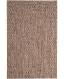 "Safavieh Courtyard Brown and Beige 5'3"" x 7'7"" Sisal Weave Area Rug"