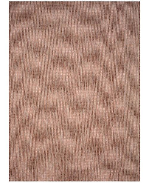Safavieh Courtyard Red and Beige 9' x 12' Area Rug