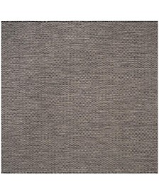 "Safavieh Courtyard Black and Beige 6'7"" x 6'7"" Square Area Rug"