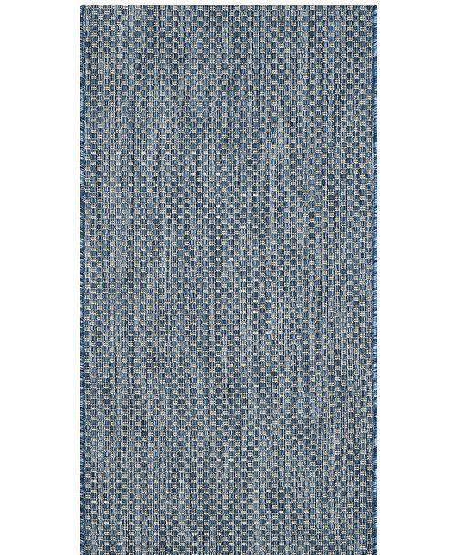 "Safavieh Courtyard Navy and Gray 2' x 3'7"" Sisal Weave Area Rug"
