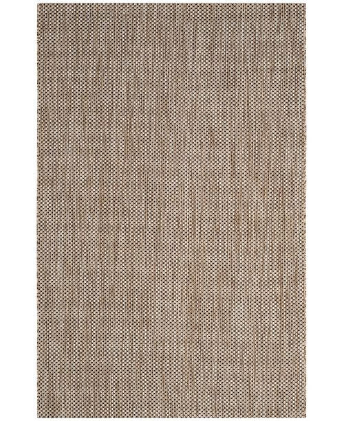 "Safavieh Courtyard Natural and Black 6'7"" x 9'6"" Area Rug"
