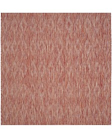 """Safavieh Courtyard Red 6'7"""" x 6'7"""" Square Area Rug"""