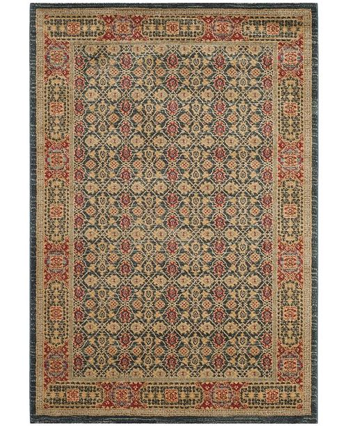 "Safavieh Mahal Light Blue and Red 6'7"" x 9'2"" Area Rug"