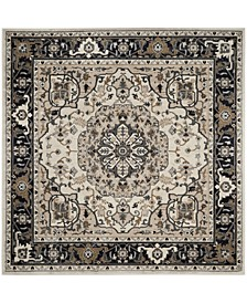 Lyndhurst Cream and Navy 7' x 7' Square Area Rug