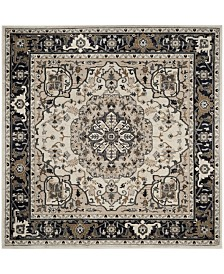 Safavieh Lyndhurst Cream and Navy 7' x 7' Square Area Rug