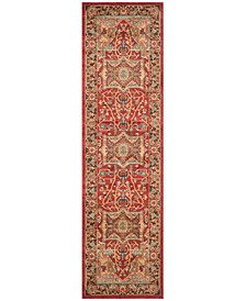 "Mahal Natural and Navy 2'2"" x 12' Runner Area Rug"