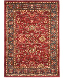 Mahal Red and Navy 10' x 14' Area Rug