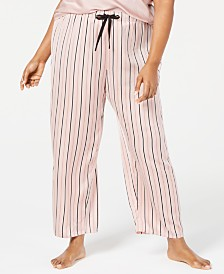 I.N.C. Plus Size Printed Pajama Pants, Created for Macy's